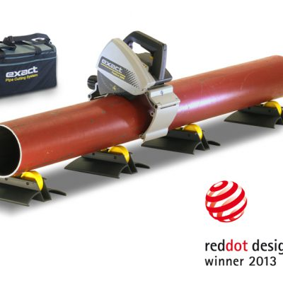 Exact PipeCut 220E with the mention of being reddot design award winner