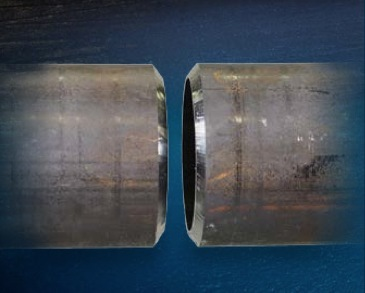 Bevel result of Stainless Steel Pipe by the Exact PipeBevel 360E
