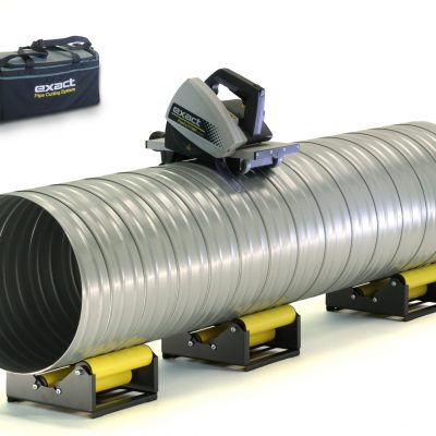 Exact PipeCut V1000, the pipe cutter ready to cut a large ventilation and spiral duct pipe