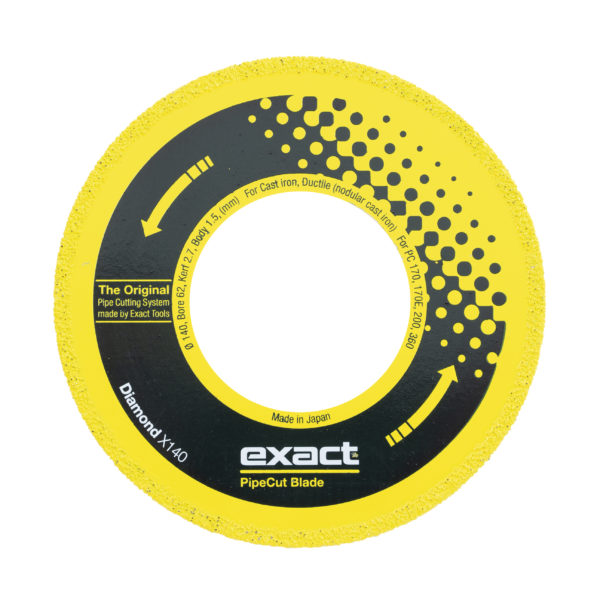 Exact Diamond X140 for cutting cast iron pipes